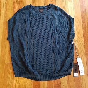 Teal short sleeve sweater